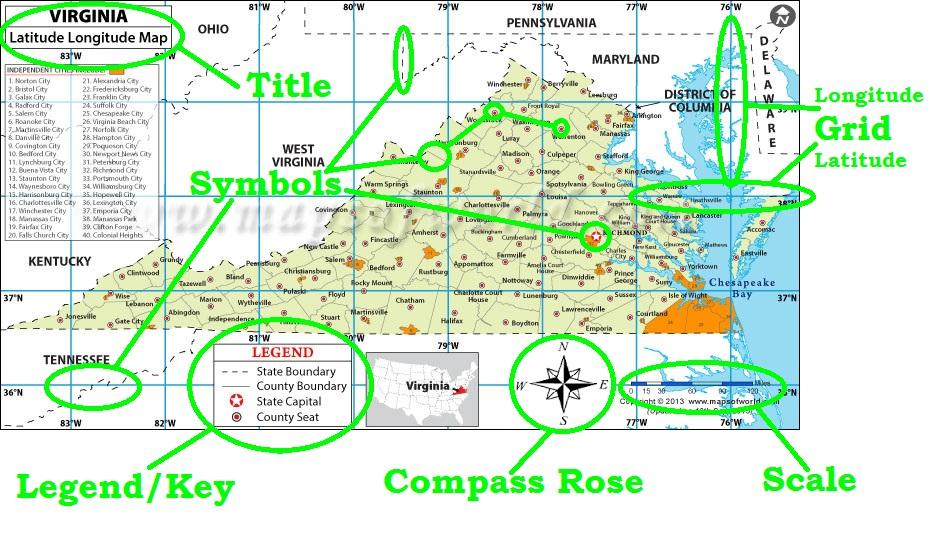 Parts of a Map - Mr. Reardon\'s US II